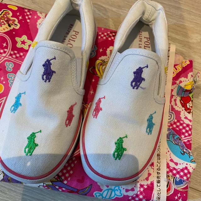 POLO RALPH LAUREN(ポロラルフローレン)のラルフローレン スリッポン キッズ/ベビー/マタニティのキッズ靴/シューズ(15cm~)(スリッポン)の商品写真