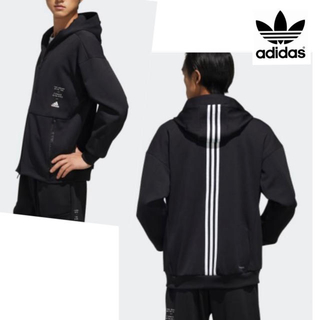 adidas - adidas アディダス パーカー スウェット ジャージ 3本ライン