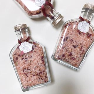 マークスアンドウェブ(MARKS&WEB)のhandmade🍋レモングラスの香り 瓶入りナチュラルアロマバスソルト(入浴剤/バスソルト)