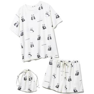 gelato pique - ジェラートピケ♡パンダTシャツ&ショートパンツ&巾着セット