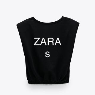 ザラ(ZARA)の値下げ 新品 ショルダー パットT s(Tシャツ(半袖/袖なし))