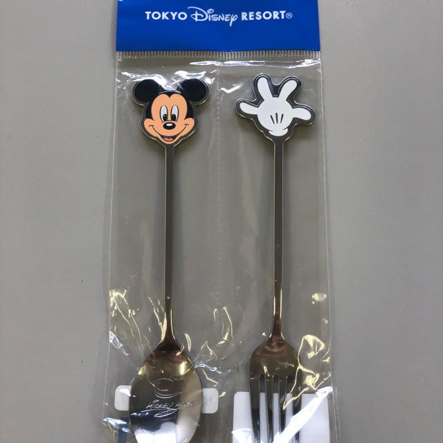 Disney(ディズニー)の新品 東京ディズニーリゾートミッキーカトラリーセットTDR  TDS ディズニー エンタメ/ホビーのおもちゃ/ぬいぐるみ(キャラクターグッズ)の商品写真