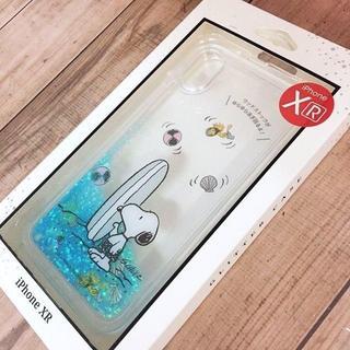 スヌーピー(SNOOPY)のスヌーピー iPhoneXR グリッター スマホケース C(iPhoneケース)