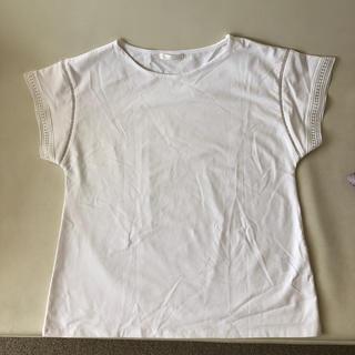 ドレスキップ(DRESKIP)の白カットソー(カットソー(半袖/袖なし))