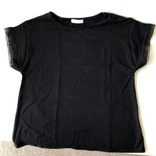 ドレスキップ(DRESKIP)の黒カットソー(カットソー(半袖/袖なし))