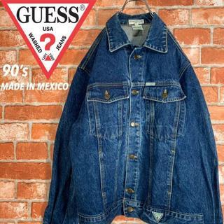 GUESS - 【メキシコ製 90s】ゲス《GUESS》ワンポイントロゴ デニムジャケット