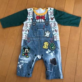 Disney - ディズニー ミッキー  ロンパース80