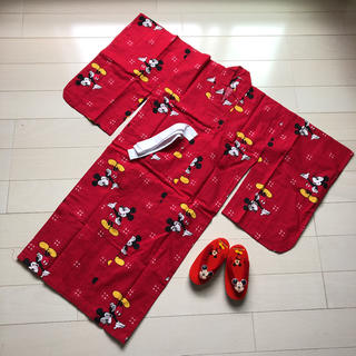 Disney - お値下げ☆レア☆レトロ☆ミッキーマウス 浴衣 ディズニーランド
