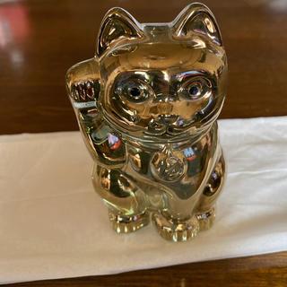 バカラ(Baccarat)のバカラ Baccarat フィギュア オーナメント 招き猫 ゴールド (置物)