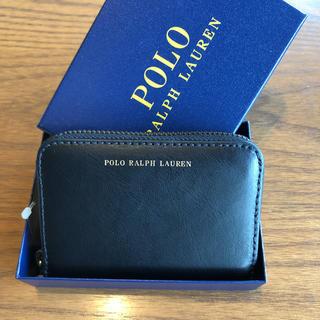 ポロラルフローレン(POLO RALPH LAUREN)の新品(箱なし)ラルフローレン カードケース 小銭入れ ミニ財布 黒(財布)