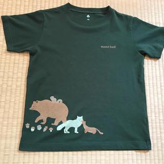 mont bell - mont-bellモンベル☆森の動物たちウィックロンTシャツ140美品