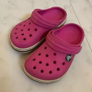 crocs - クロックス サンダル ピンク 16.5㎝
