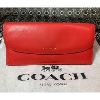 コーチ(COACH)のCOACH コーチ スリムエンベロープ 長財布 レッド 赤(長財布)