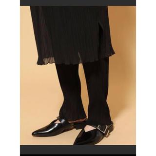 ハレ(HARE)の新品 定価1万円 HARE シアー レイヤードスカートレギンスセット ブラック(ひざ丈スカート)