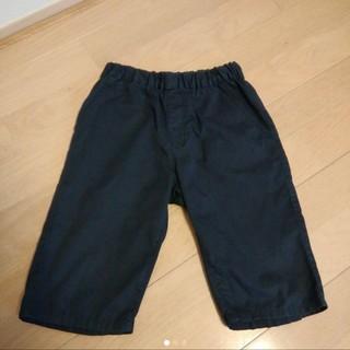 MUJI (無印良品) - ハーフパンツ 無印良品 高密織 120 ネイビー 紺