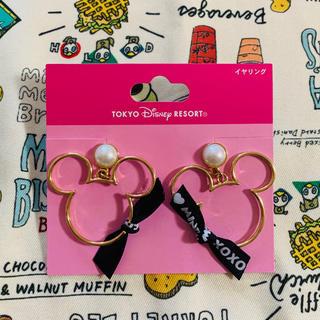 Disney - ディズニー リゾート ミッキー イヤリング  ブラック