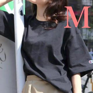 Champion - 黒M トップス 白tシャツ 無地 チャンピオンtシャツ レディース メンズ 半袖