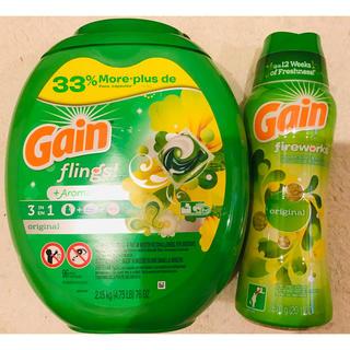 コストコ(コストコ)のお買い得!Gain ゲイン ジェルボール 96個+ゲイン香りビーズ 570g (洗剤/柔軟剤)