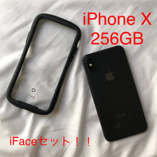 Apple - iFace付き iPhone X Space Gray 256GB SIMフリー