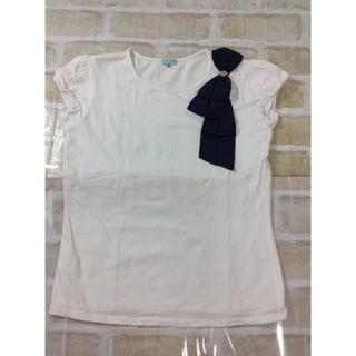 トッカ(TOCCA)のTOCCA リボンが可愛い 半袖 Tシャツ 140cm ★02YE0702128(Tシャツ/カットソー)