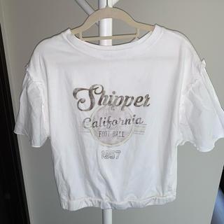 ダブルクローゼット(w closet)のw closet カットソー 袖切り替え レース(Tシャツ/カットソー)