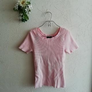 ロペ(ROPE)のROPE ☆薄ピンク☆カットソーTシャツ(カットソー(半袖/袖なし))