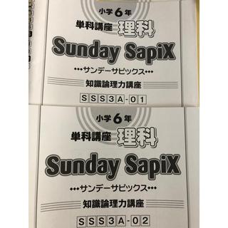 サピックス6年 単科講座 理科 Sunday sapix 1-14(語学/参考書)