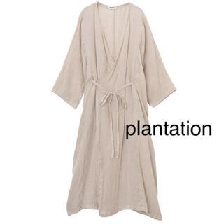 プランテーション(Plantation)のリネンワンピース plantation  Mサイズ(ロングワンピース/マキシワンピース)