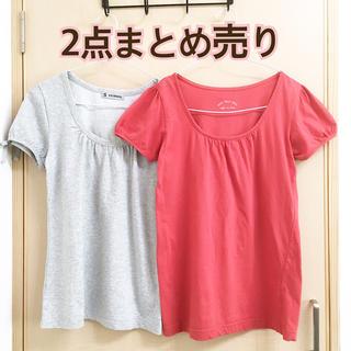 シマムラ(しまむら)のPOU DOU DOU パフスリーブ 半袖 Tシャツ M オレンジ まとめ売り(Tシャツ(半袖/袖なし))