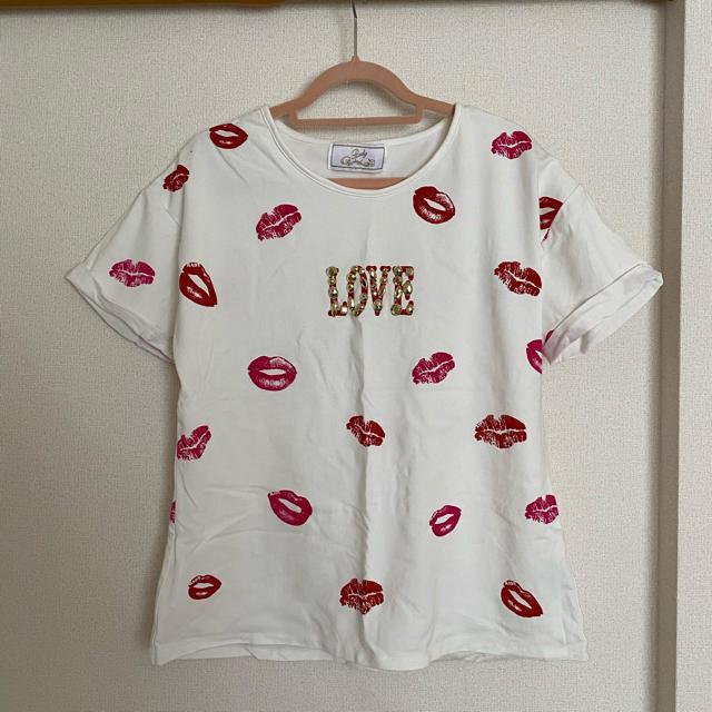 Rady(レディー)のRady リップ柄 Tシャツ レディースのトップス(Tシャツ(半袖/袖なし))の商品写真