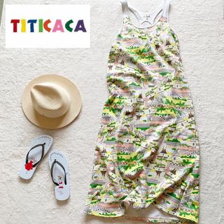 チチカカ(titicaca)の美品【TITICACA チチカカ】ロング ワンピース Lサイズ(ロングワンピース/マキシワンピース)