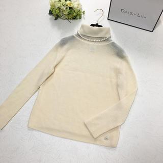 シャネル(CHANEL)の美品 シャネル CHANEL ロゴプレート 正規品 ニット セーター(ニット/セーター)