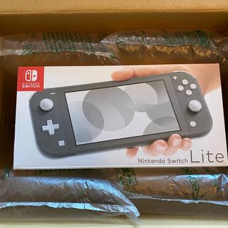 Nintendo Switch - 新品 Nintendo switch lite グレー 本体 スイッチライト