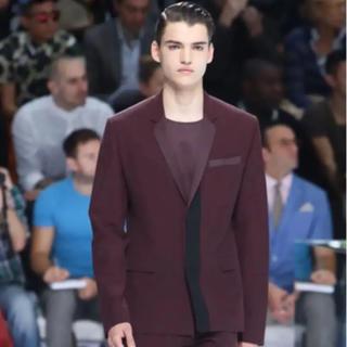 ディオールオム(DIOR HOMME)の美品 Dior HOMME 14SS ワインレッド 切替ジャケット モード(テーラードジャケット)
