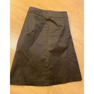 アンタイトル(UNTITLED)のアンタイトル スカート濃茶色 0(ひざ丈スカート)