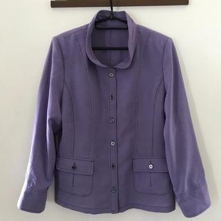 イセタン(伊勢丹)のnoa-ge  紫 ジャケット(ノーカラージャケット)