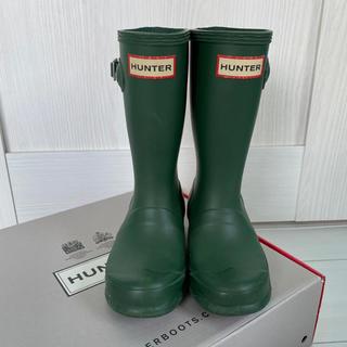ハンター(HUNTER)のもるすけ様専用です。値下げしました!HUNTER ハンターキッズ 長靴UK10(長靴/レインシューズ)