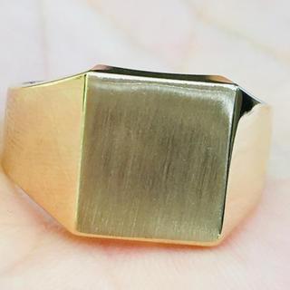K18 印台 リング 指輪