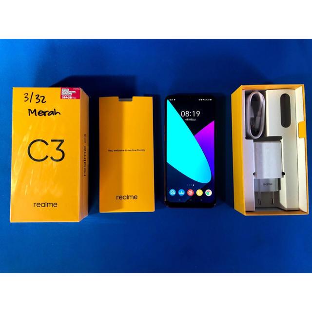 ANDROID(アンドロイド)のOPPO Realme C3 3+32GB SIMフリー レッド 中古美品 スマホ/家電/カメラのスマートフォン/携帯電話(スマートフォン本体)の商品写真