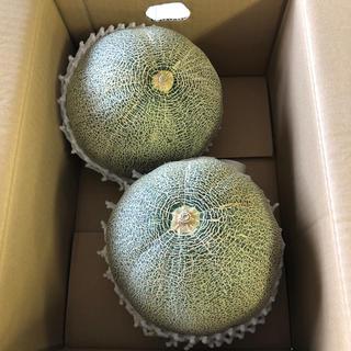 超大玉!茨城県産タカミメロン1箱2個入り①(フルーツ)
