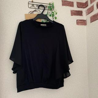 アウィーエフ(AuieF)のブラックのカットソー(Tシャツ(半袖/袖なし))