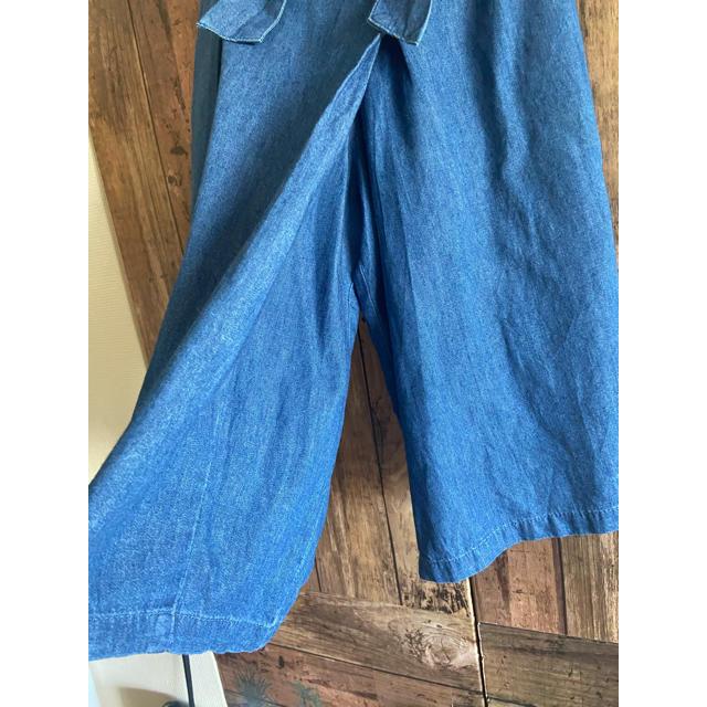 MPS(エムピーエス)の美品 MPS ラップスカート風 バミューダパンツ 110 リボンベルト キッズ/ベビー/マタニティのキッズ服女の子用(90cm~)(パンツ/スパッツ)の商品写真
