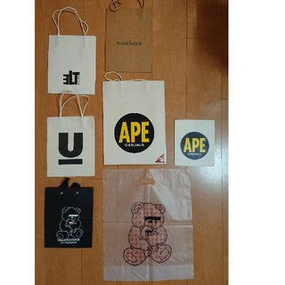 アベイシングエイプ(A BATHING APE)のBATHING APE UNDERCOVER 裏原系 ショッパー 紙袋 エイプ(その他)