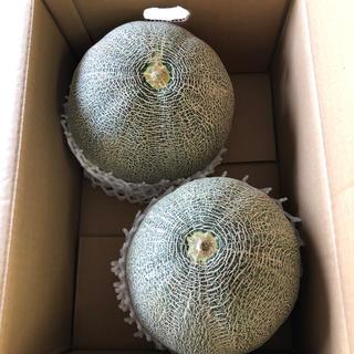 超大玉!茨城県産タカミメロン1箱2個入り③(フルーツ)