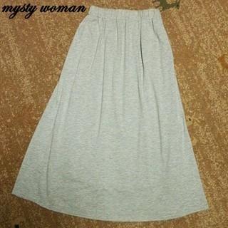 ミスティウーマン(mysty woman)のスカート misty woman  ミスティウーマン ギャザースカート (ロングスカート)
