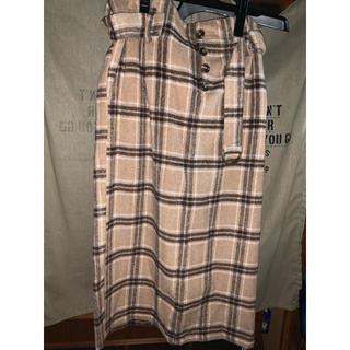 しまむら - しまむら アベイル ハイウエスト 起毛チェックタイトスカート