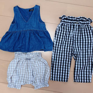 A CAN B - 子供服 3点セット 古着 キッズ 子供 ベビー スカート パンツ デニムワンピ