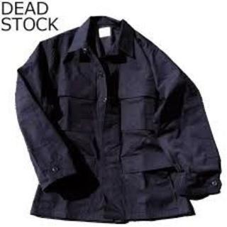 米軍デッドストック BDUジャケット RIP-STOP 黒SMALL(フライトジャケット)