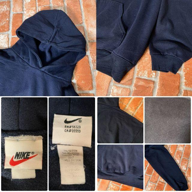 NIKE(ナイキ)の【USA製 90s】ナイキ《NIKE》トリミング刺繍ロゴ スウェットパーカ メンズのトップス(パーカー)の商品写真