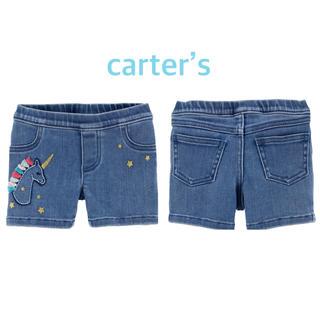カーターズ(carter's)の【新品】カーターズ ユニコーン デニム ショートパンツ 3T(パンツ/スパッツ)